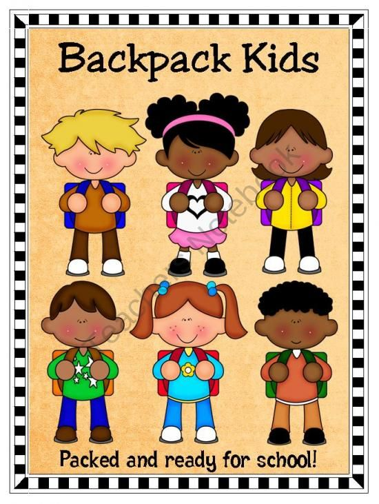 Kids with backpacks clipart clipart black and white stock 1000+ images about clip art on Pinterest | Shops, School backpacks ... clipart black and white stock