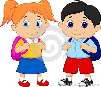 Kids with backpacks clipart picture library library Backpacks Stock Illustrations – 550 Backpacks Stock Illustrations ... picture library library