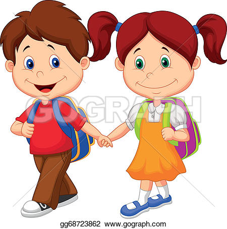 Kids with backpacks clipart graphic black and white stock Backpacks Clip Art - Royalty Free - GoGraph graphic black and white stock