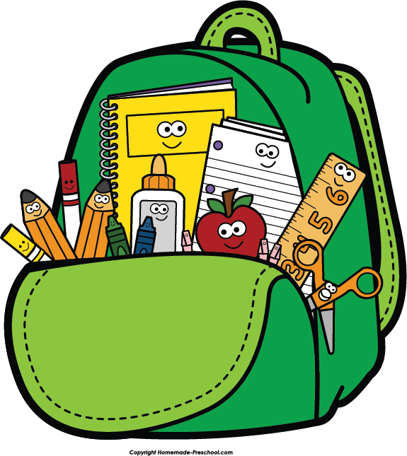 Free clipart for back to school image library Kids backpacks for school clipart - ClipartFest image library