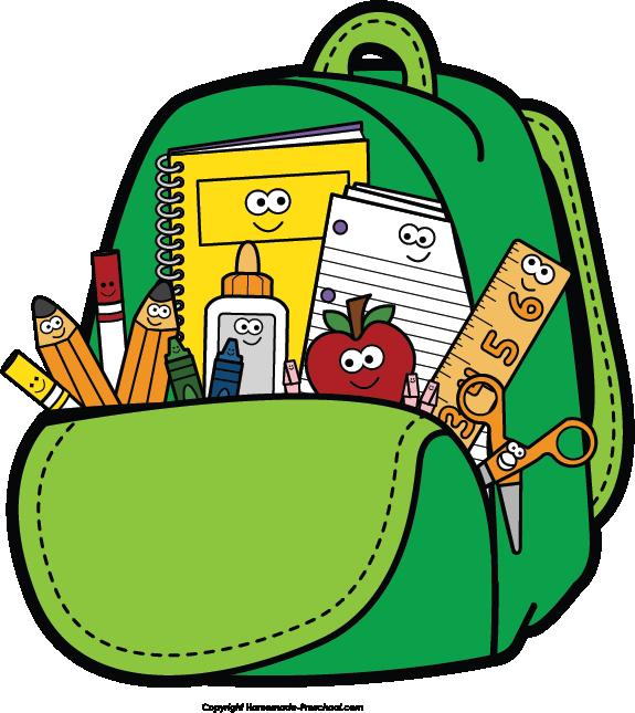 Preschool book clipart png Kids backpacks for school clipart - ClipartFest png
