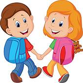 Kids with backpacks clipart png transparent download Kids wearing backpacks clipart - ClipartFest png transparent download