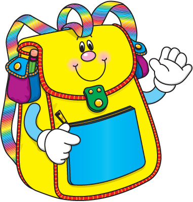 Kids with backpacks clipart image School backpacks clipart - ClipartFest image