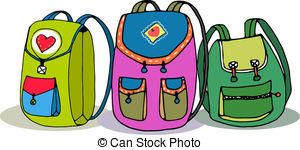 Kids with backpacks clipart clipart freeuse download Backpacks Clipart and Stock Illustrations. 17,712 Backpacks vector ... clipart freeuse download