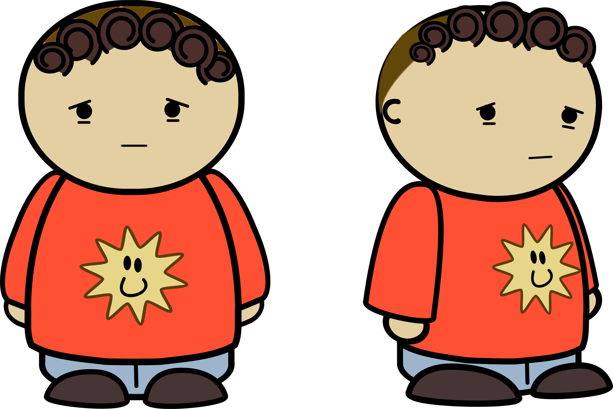 Kids with character clipart graphic Clipart - Miserable - Mix and math comic character graphic