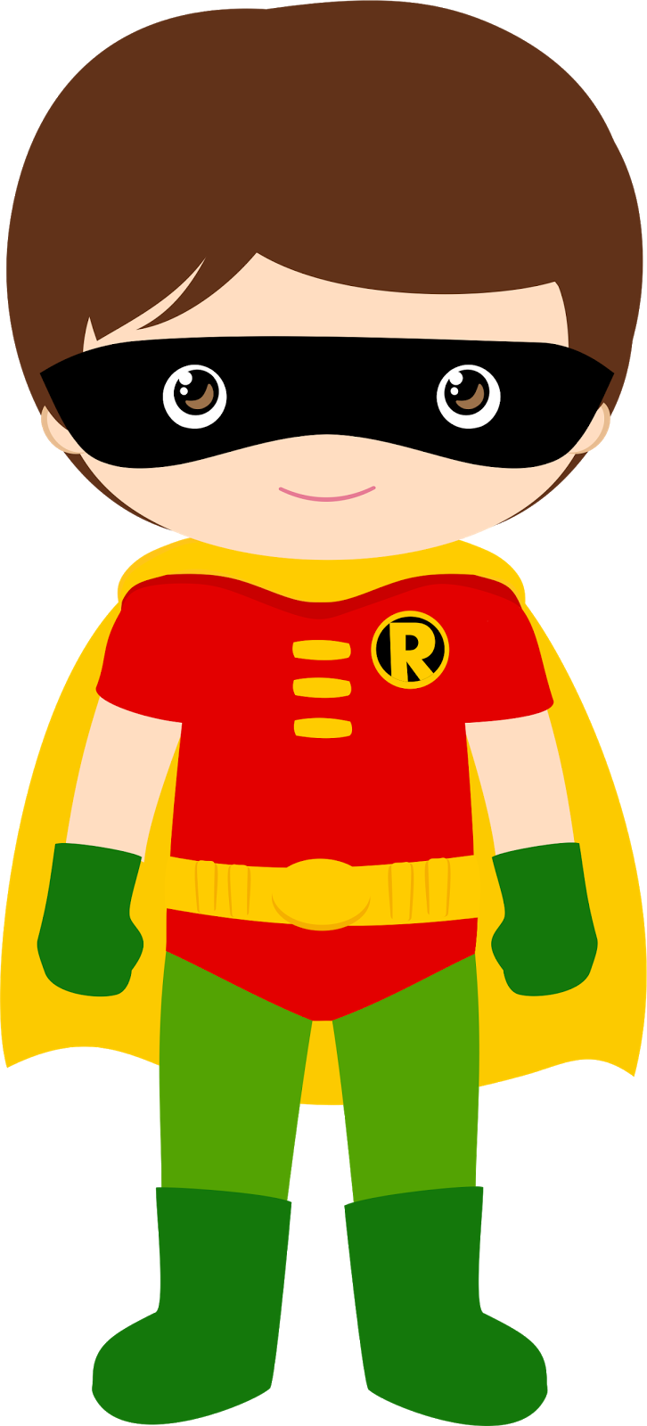 Super hero kids clipart png transparent stock Characters of Batman Kids Version Clip Art. | Super hero | Pinterest ... png transparent stock