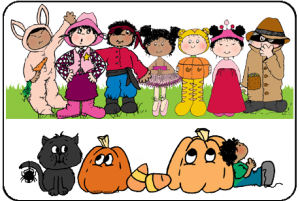 Kids with costumes clipart clip art black and white Kids halloween costumes clipart - ClipartFest clip art black and white