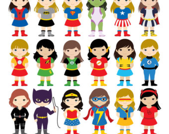 Kids with costumes clipart freeuse library 36 Kids Superhero Costumes Clipart Superheroes Kids Clipart freeuse library