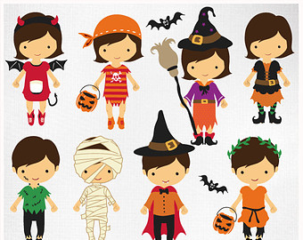 Kids with costumes clipart clip transparent download Kids in halloween costumes clipart - ClipartFest clip transparent download