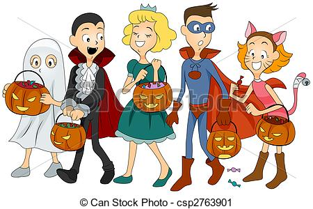 Kids with costumes clipart banner Kids halloween costumes clipart - ClipartFest banner