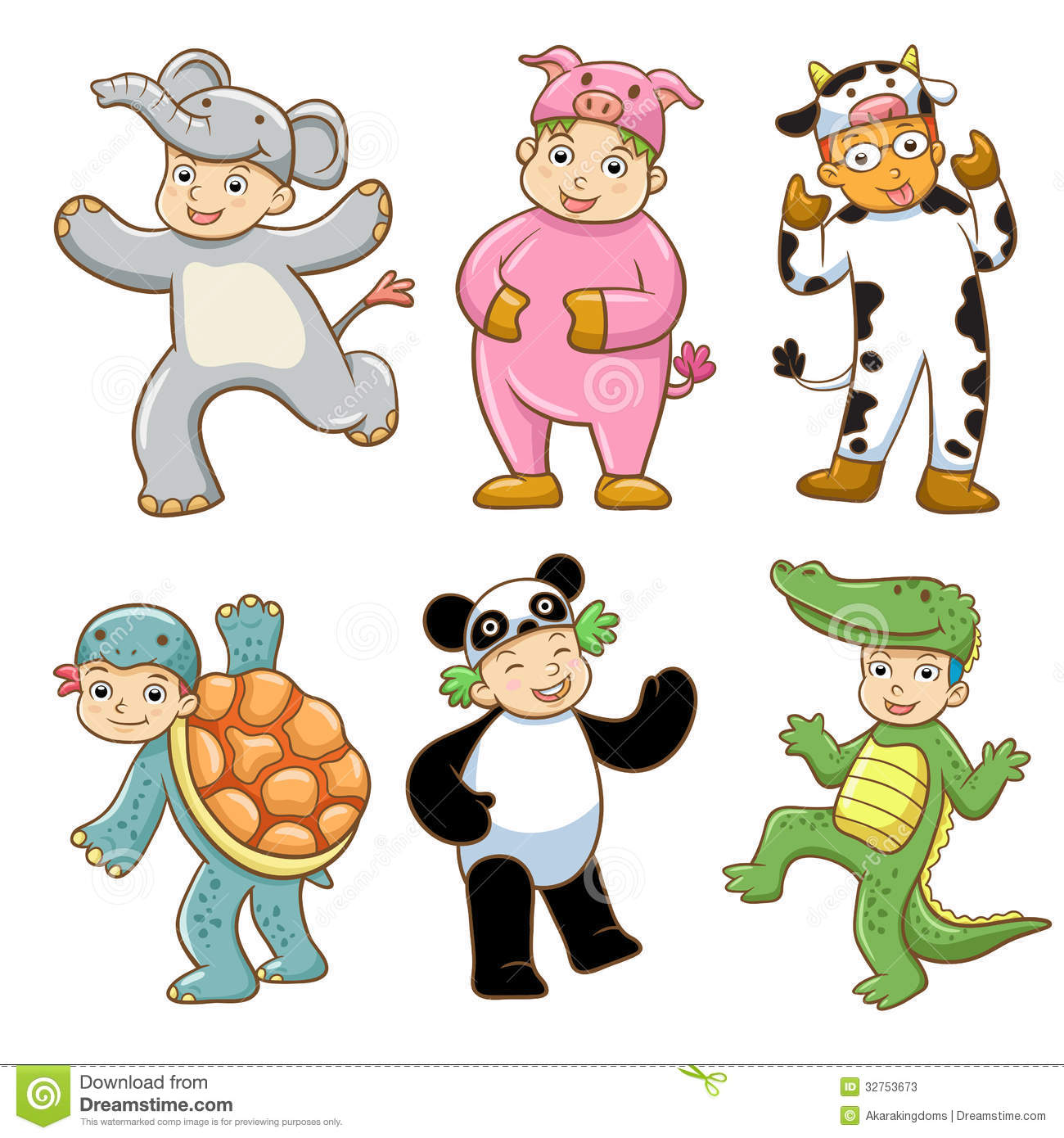 Kids with costumes clipart clip art freeuse library Kids animal costume clipart - ClipartFest clip art freeuse library