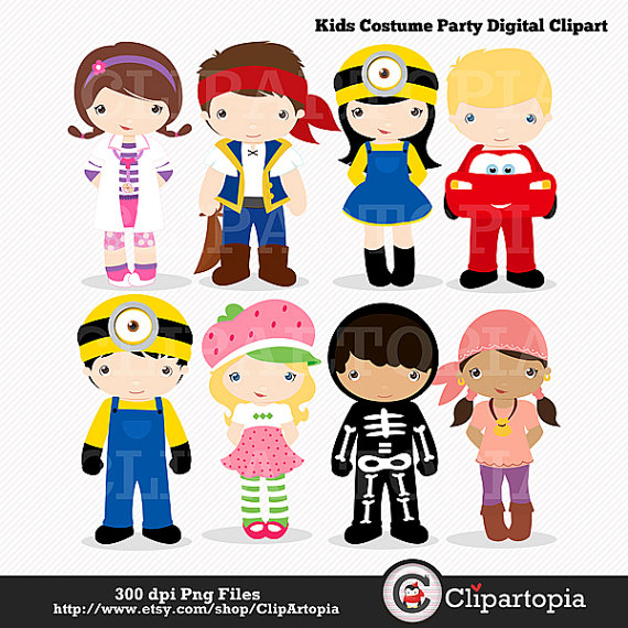 Kids with costumes clipart png black and white download Cute Costume Clipart - Clipart Kid png black and white download