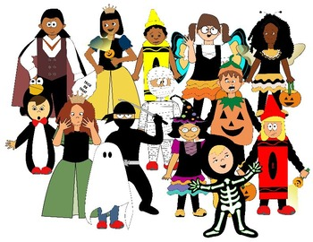Kids with costumes clipart banner free library Kids in halloween costumes clipart - ClipartFest banner free library