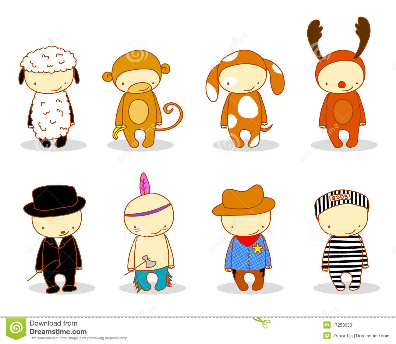 Kids with costumes clipart banner free stock Cute Costume Clipart - Clipart Kid banner free stock