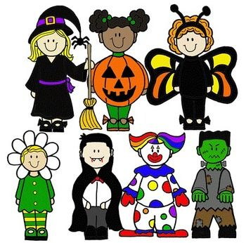 Kids with costumes clipart banner royalty free stock Clip Art~ Halloween Kids   Costumes, Kid and Art banner royalty free stock