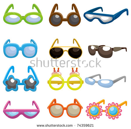 Kids with glasses clipart graphic free download Cartoon Sunglasses Clip Art Stock Images, Royalty-Free Images ... graphic free download
