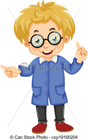 Kids with glasses clipart royalty free download Vector Clipart of A kid wearing glasses - Illustration of a kid ... royalty free download
