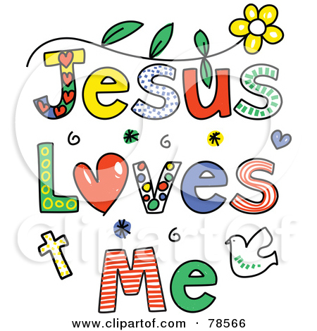 Kids with jesus clipart vector Jesus Loves Me Clipart - Clipart Kid vector