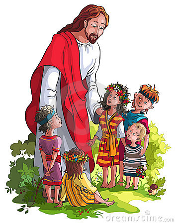 Kids with jesus clipart clipart black and white library Kids with jesus clipart - ClipartFest clipart black and white library