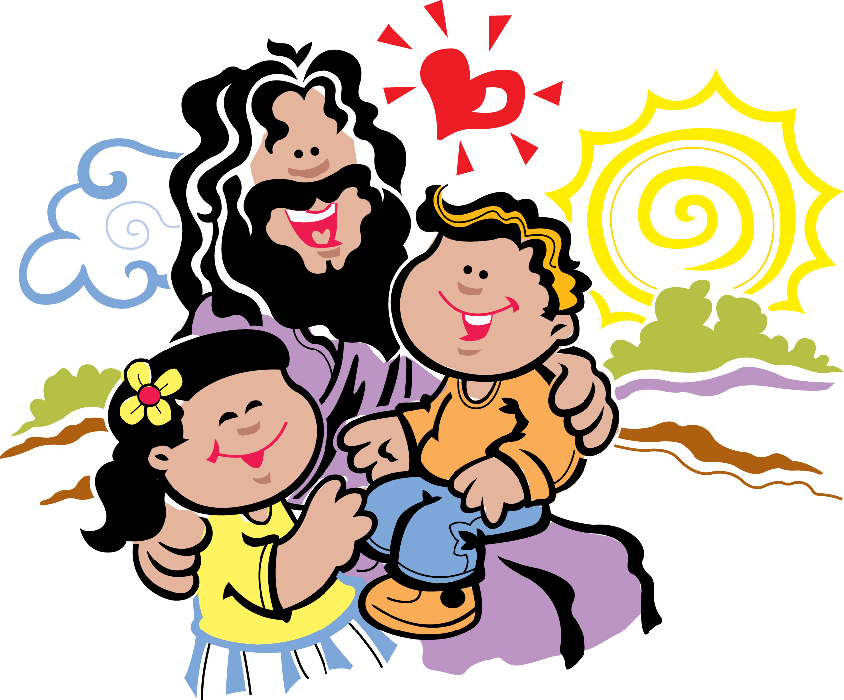 Kids with jesus clipart vector download Kids with jesus clipart - ClipartFest vector download