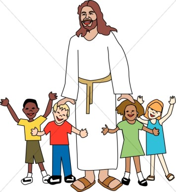 Kids with jesus clipart vector black and white download Jesus Children Clip Art | Clipart Panda - Free Clipart Images vector black and white download