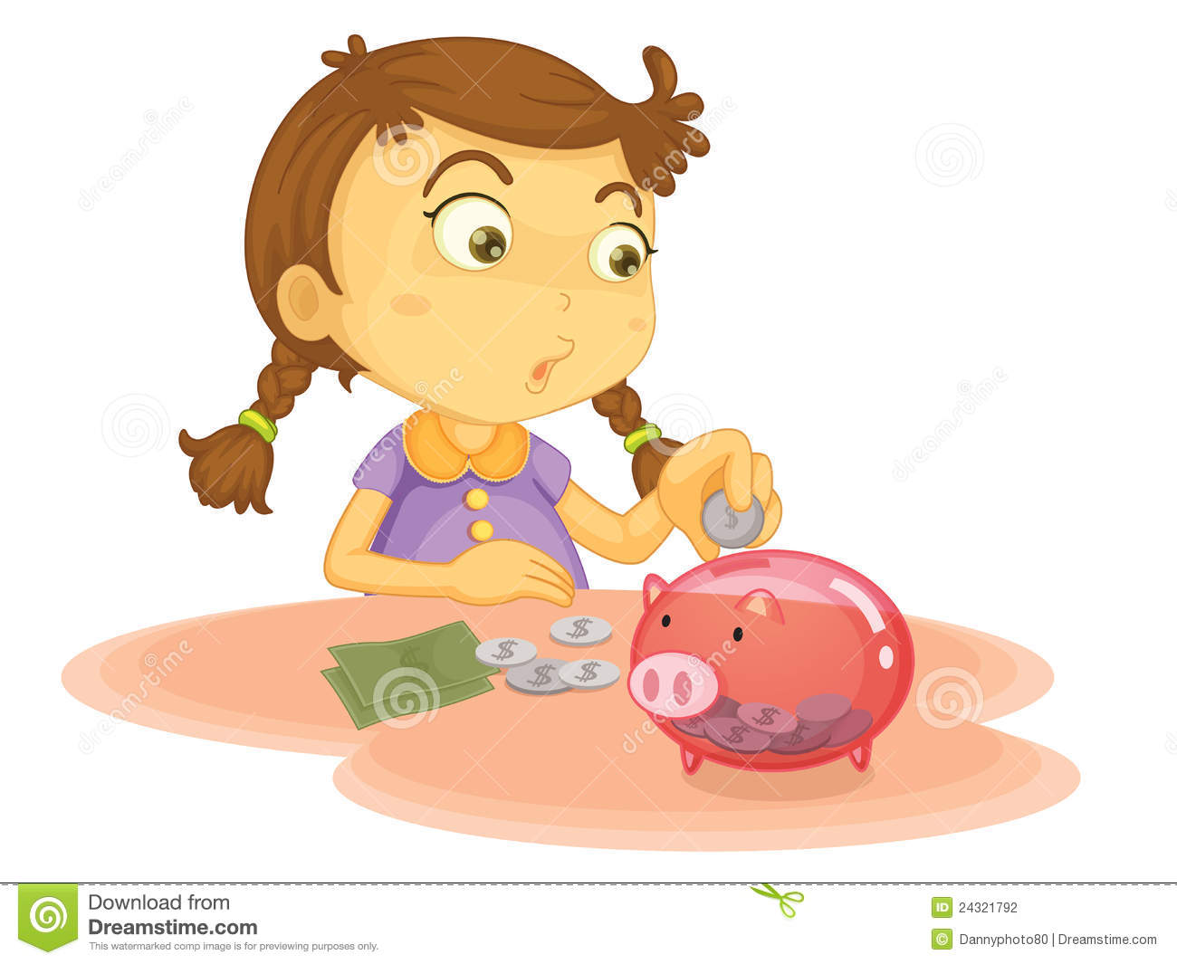 Kids with money clipart freeuse stock Kids saving money clipart - ClipartFest freeuse stock