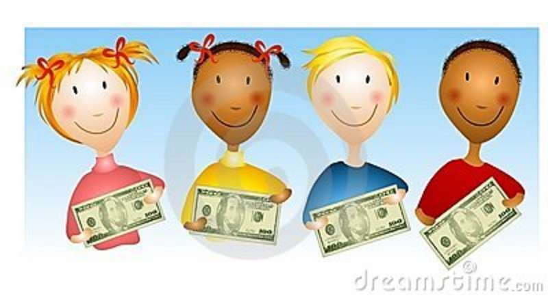 Kids with money clipart svg transparent Kids with money clipart - ClipartFest svg transparent
