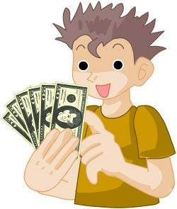 Kids with money clipart image black and white download Kids and money clipart - ClipartFest image black and white download