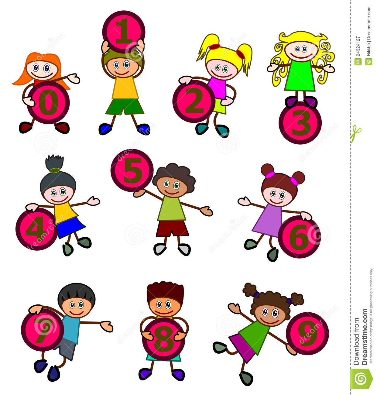 Kids with numbers clipart clip art free stock Counting Numbers Clipart - Clipart Kid clip art free stock
