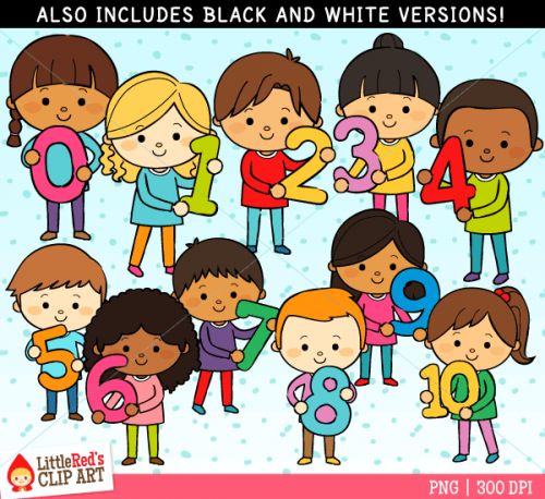 Kids with numbers clipart vector freeuse Kids with numbers clipart - ClipartFest vector freeuse