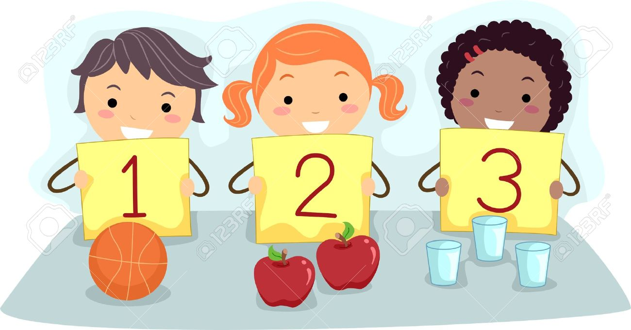 Kids with numbers clipart svg free stock Clipart numbers for kids - ClipartFest svg free stock