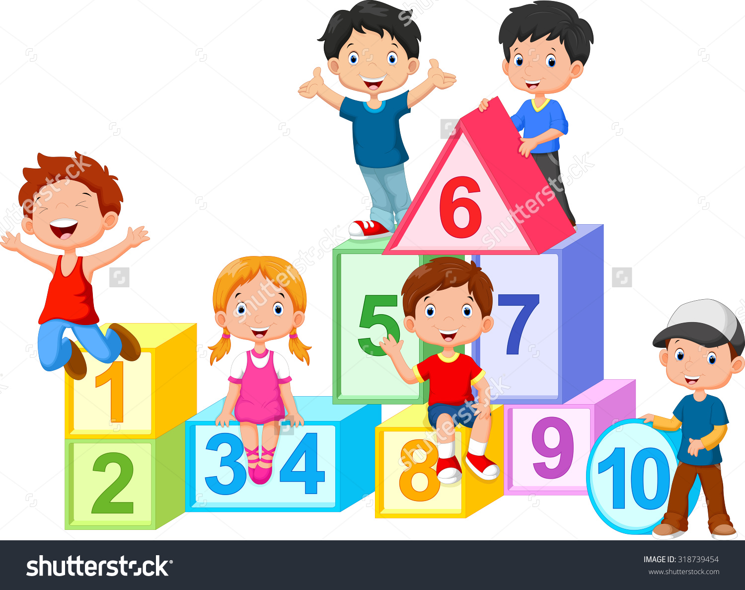Kids with numbers clipart black and white Kids with numbers clipart - ClipartFest black and white