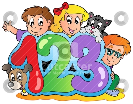 Kids with numbers clipart banner transparent stock Numbers Clipart For Kids | Clipart Panda - Free Clipart Images banner transparent stock