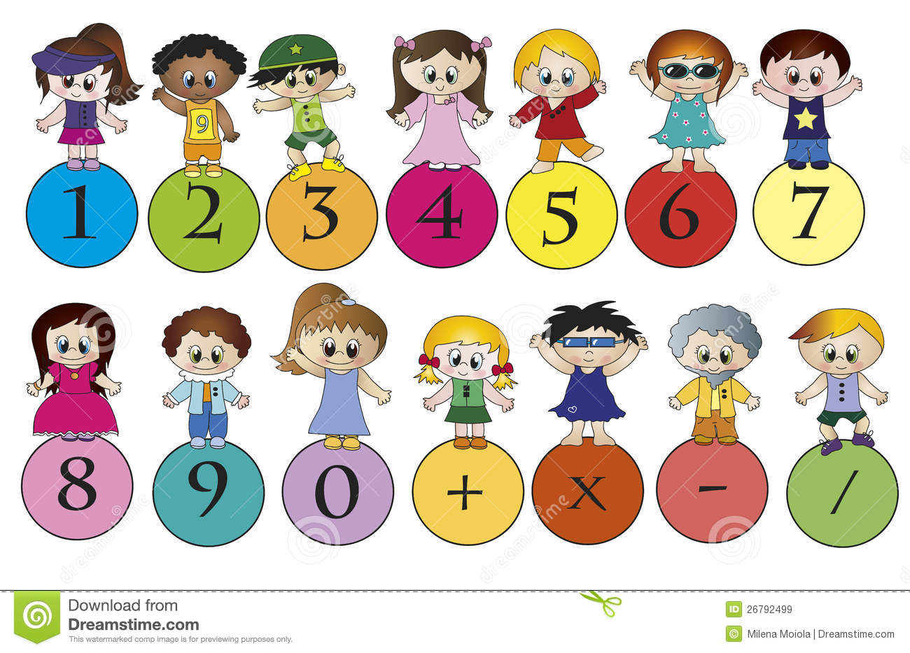 Kids with numbers clipart png black and white download Kids with numbers clipart - ClipartFest png black and white download