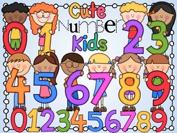 Kids with numbers clipart banner black and white download Cute Number Kids | Cute kids, Kid and Numbers banner black and white download
