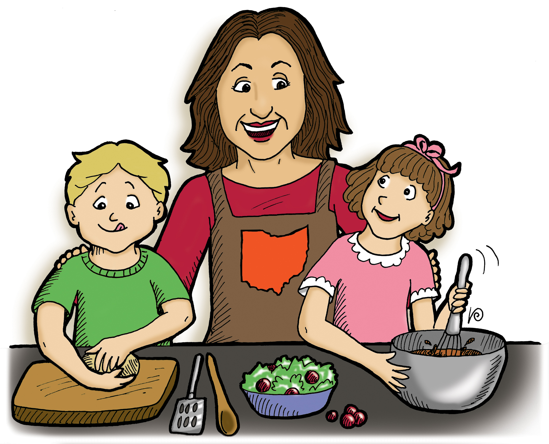 Kids with parents clipart vector free stock Helping Parents Clipart - Clipart Kid vector free stock