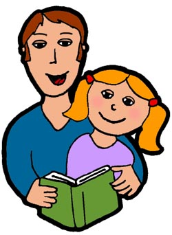 Kids with parents clipart jpg free library Parent Reading Clipart - Clipart Kid jpg free library
