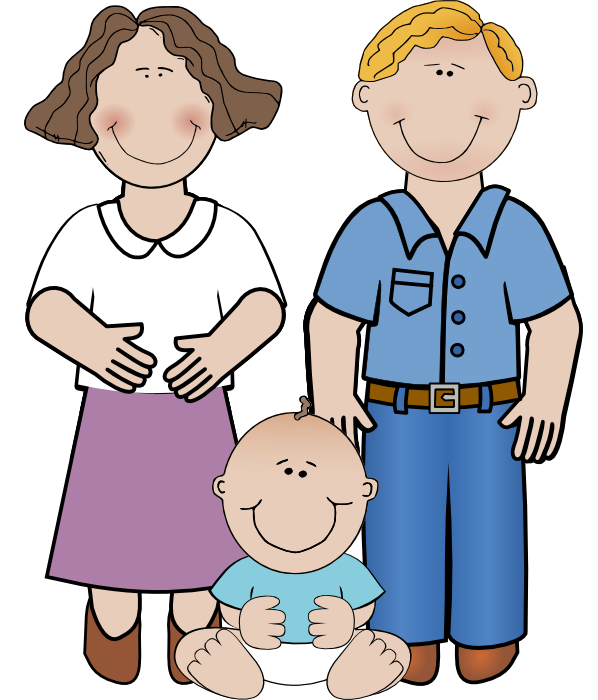 Kids with parents clipart image transparent download Free clipart of dad and kids - ClipartFest image transparent download