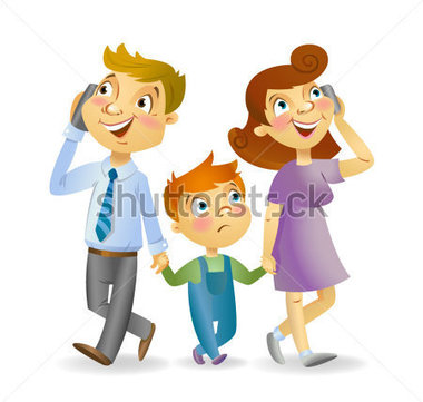 Kids with parents clipart banner freeuse library Parents talking to kids clipart - ClipartFest banner freeuse library