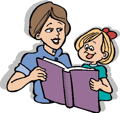 Kids with parents clipart vector royalty free library Parent Reading Clipart - Clipart Kid vector royalty free library