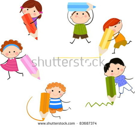 Kids with pencil clipart clip free Kid Pencil Stock Photos, Royalty-Free Images & Vectors - Shutterstock clip free