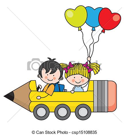 Kids with pencil clipart jpg library download Clip Art Vector of Kids Pencil - Illustration of Kids Holding ... jpg library download