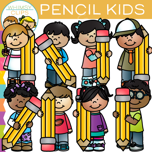 Kids with pencil clipart image library Kids with pencil clipart - ClipartFest image library