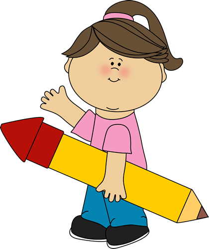 Kids with pencil clipart svg transparent stock Pencil Clip Art - Kids Pencil Images svg transparent stock