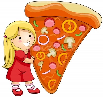 Kids with pizza clipart freeuse stock Group Eating Pizza Clipart - Clipart Kid freeuse stock