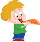 Kids with pizza clipart clip art free stock Vector Clipart of Kid eating pizza - Cute boy eating pizza ... clip art free stock