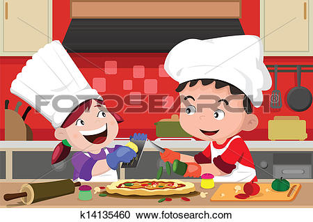 Kids with pizza clipart free download Clipart of Kids making pizza in the kitchen k14135460 - Search ... free download