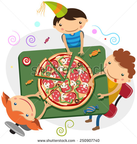 Kids with pizza clipart black and white stock Kids with pizza clipart - ClipartFest black and white stock