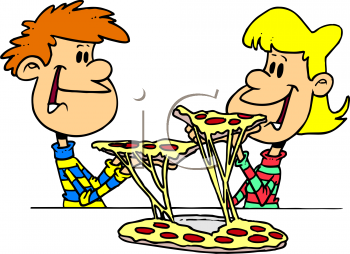 Kids with pizza clipart image freeuse Kids with pizza clipart - ClipartFest image freeuse