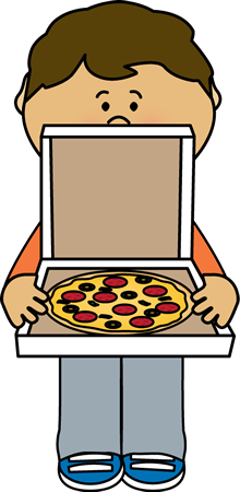 Kids with pizza clipart png black and white library Pizza Clip Art - Pizza Images - For teachers, educators, classroom ... png black and white library